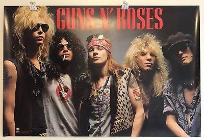 Guns-N-Roses-1988-Geffen-Records-24x36-Glossy