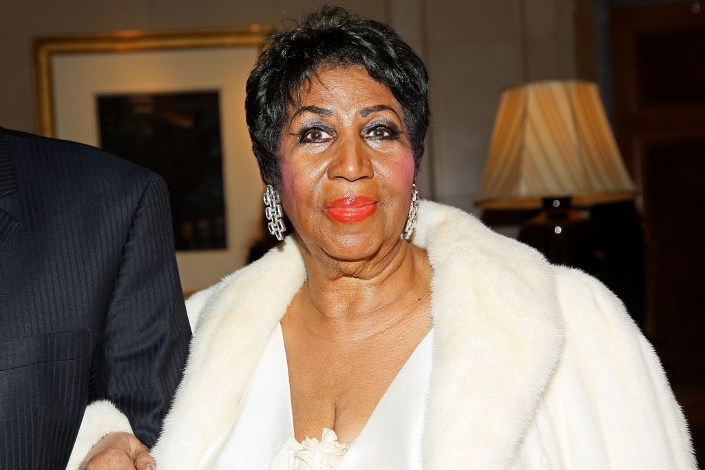 NEW YORK, NY - APRIL 14: Aretha Franklin attends Aretha Franklin's 74th Birthday Celebration at The Ritz Carlton Hotel on April 14, 2016 in New York City. (Photo by Steve Mack/Getty Images)